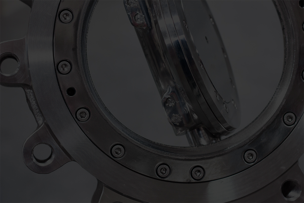 Triple Offset Butterfly Valve w/ Polished Stainless Disc for Baking Soda Application